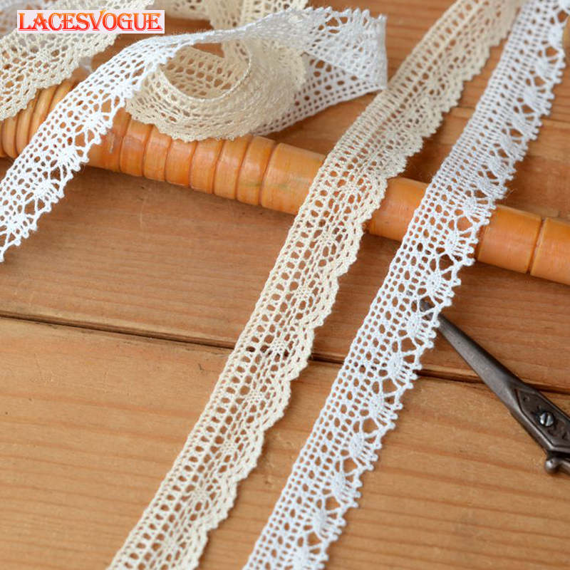 Cotton Lace Ribbon 20 Meters Beige Needlework Sewing Lace