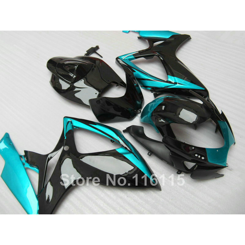 Injection mold  fairing kit for SUZUKI GSXR 600 750 K6 K7 2006 2007 green black GSXR600 GSXR750 fairings set 06 07 NF49 new hot moto parts fairing kit for honda cbr1000rr 06 07 green injection mold fairings set cbr1000rr 2006 2007 ra17