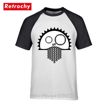 Novelty Print MTB Skull T Shirt Summer Creative Design Game Metal Gear T-Shirt Casual Bicycle Tee Bike Cyclist BMX Hipster Shirt