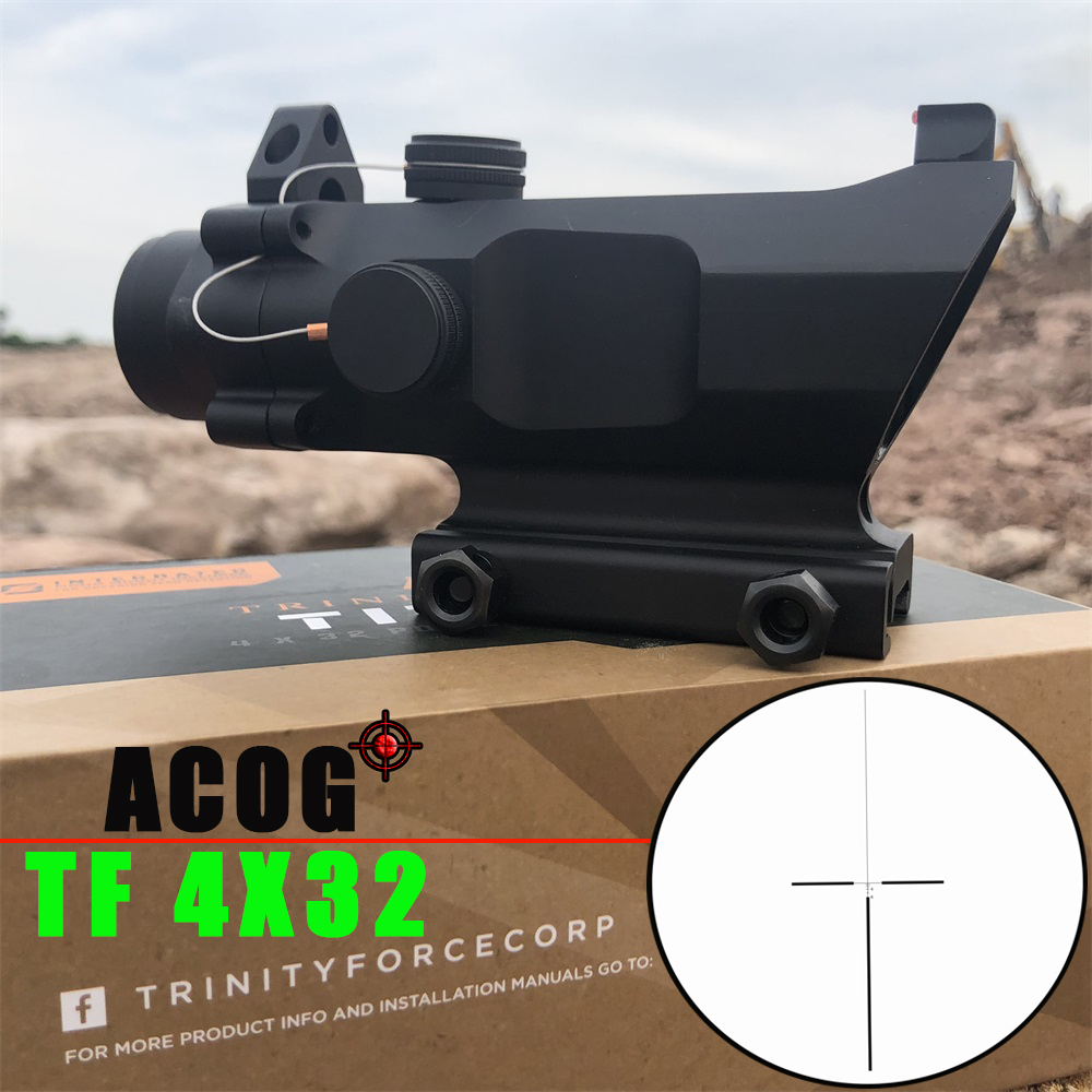 Trijicon T-eagle ACOG TF 4x32 Optical Rifle Scopes Spotting For Gun M416 Reticle With 20MM Mounts Riflescope Hunting Optics