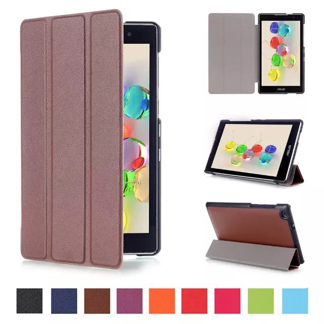New Luxury Elegant Pu Leather Stand Case Cover Shield for Asus Zenpad C 7.0 Z170CG Tablet with Hard Shell.Free Shipping