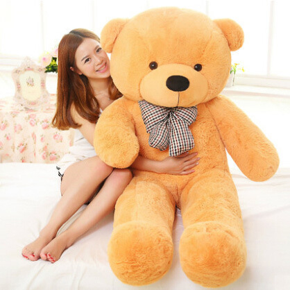 Free Shipping 200CM 2M 78inch giant teddy bear animals kid baby plush toy dolls life size teddy bear girls toy 2018 New arrival in Stuffed Plush Animals from Toys Hobbies