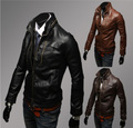 mens leather jacket men suede and leather jackets short design mandarin male zip motorcycle leather jacket winter suede coat