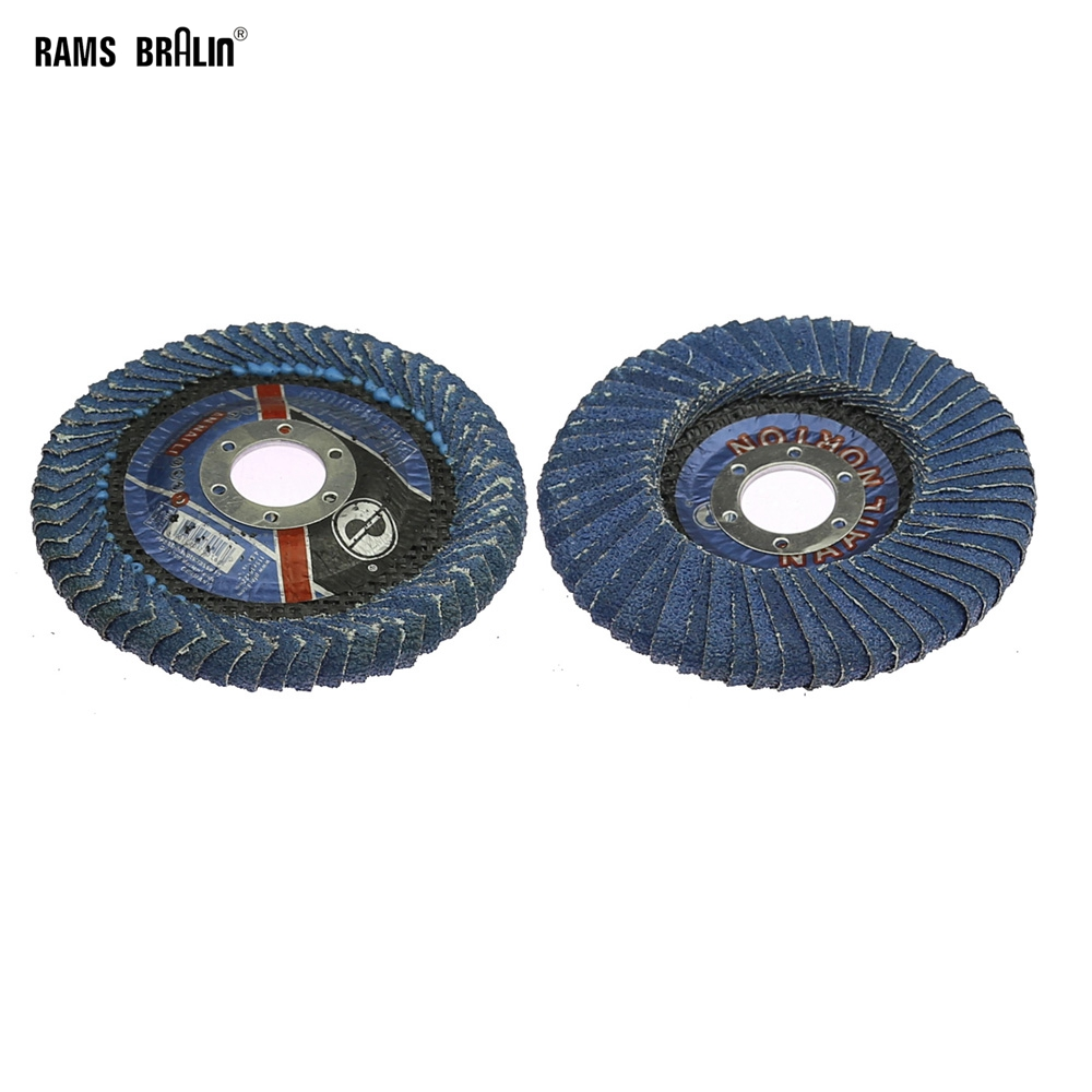 1 Piece Zirconia Abrasive Flap Disc Double-side Grinding Wheel For Metal Slot Polishing Iron Gap Rust Removal 115X22mm
