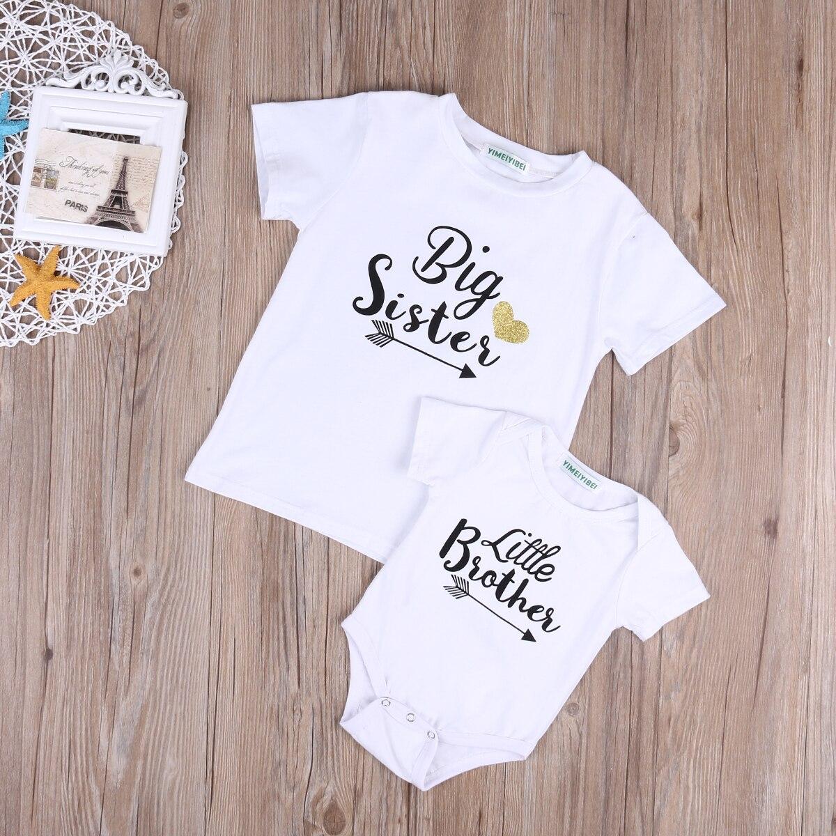 Newborn Baby Little Brother Romper Big Sister T Shirt -8803