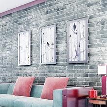 PVC Vinyl Vintage Shabby Ziegel Stein 3D Wallpaper Papel Parede  Wasserdichte Tapete Selbstklebende Tapete Für Wohnzimmer