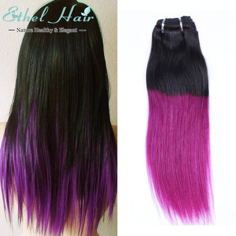 t1b purple brazilian straight hair
