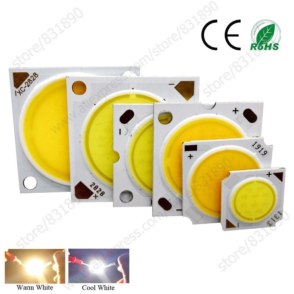 High Power LED Chip 20W 24W 30W 40W 50W SMD COB integrated LED Bead Warm/White LEDs cob Lamp RA>80 for led tracklight spotlights sencart cob 20w 1600lm 6500k white square cob led module silver dc 30 36v