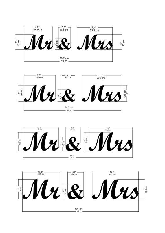 Mr Mrs Zeichen Hochzeit Decor Mr Und Mrs Stehenden Zeichen