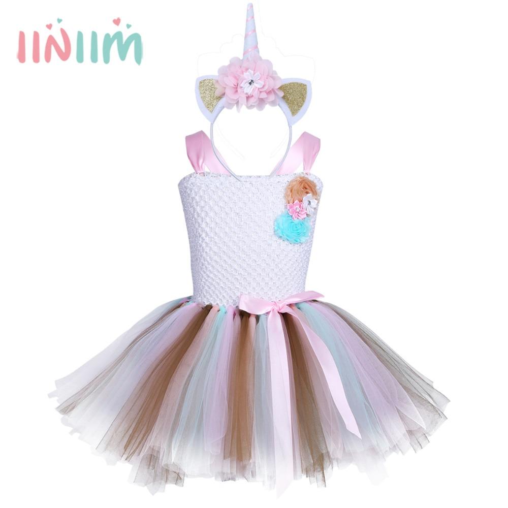 1 12 Years Fancy Baby Girl Tutu Dress Little Pony Dress Unicorn ...