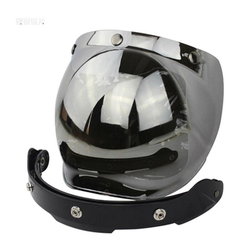 Новинка 2017 мотоцикл лобовое стекло для винтажные шлем для Harley в стиле ретро шлем Jet Стиль шлем пузырь козырек защита UV 400