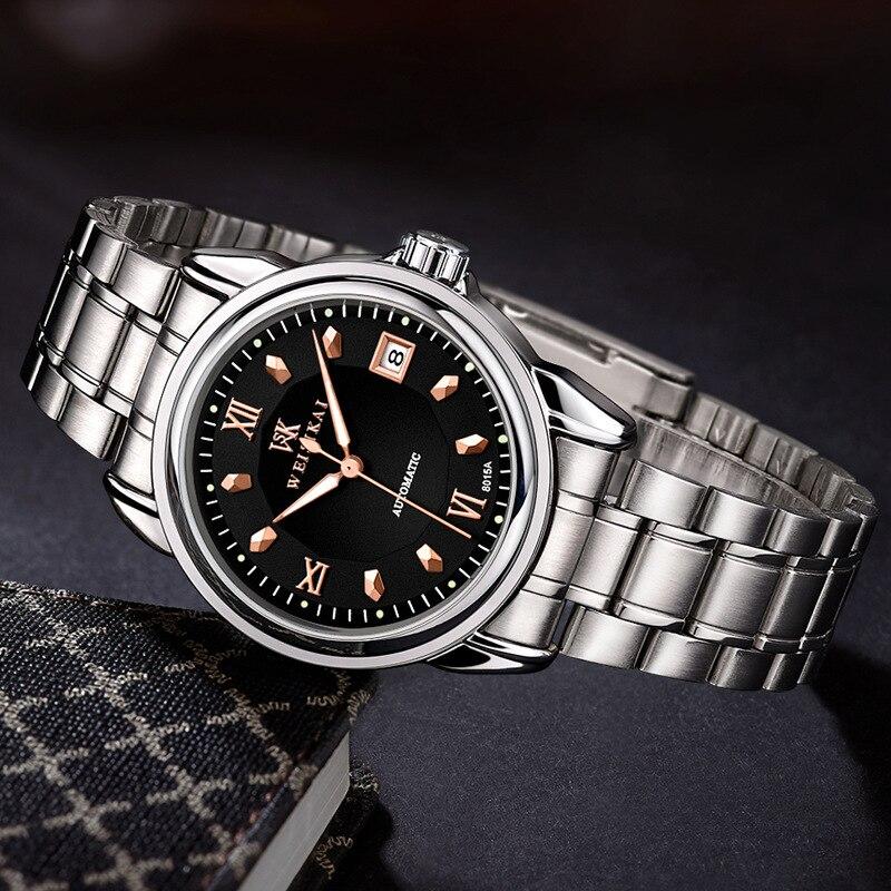 Luxury diamond Roman numerals scale Men Watch Classic luminous automatic mechanical Wristwatch fashion convenient calendar clock