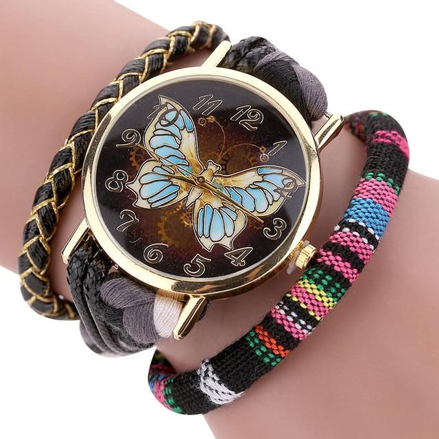 High Quality Hot Women Sleek Stylish And Chic Knit Bracelet Butterfly Bracelet W