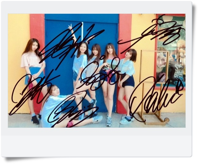 signed GFRIEND autographed  original group photo 6 inches freeshipping 062017 B VERSION snsd tiffany autographed signed original photo 4 6 inches collection new korean freeshipping 012017 01