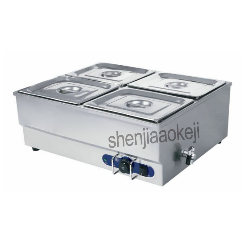 Electric Multi-function soup pool Stainless Steel Food Warmer Equipment Kitchen Tool Commercial insulation soup pool Home 1500wElectric Multi-function soup pool Stainless Steel Food Warmer Equipment Kitchen Tool Commercial insulation soup pool Home 1500w