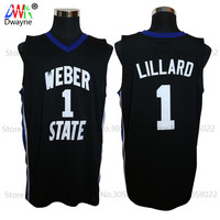 2017 Mens Dwayne Damian Lillard Jersey Cheap Throwback Basketball Jersey 1 Weber State College Basket Jerseys
