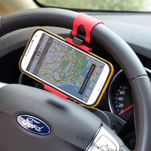 3.2-5 inch Steering-wheel Auto Phone Holder for phone in Car Mobile