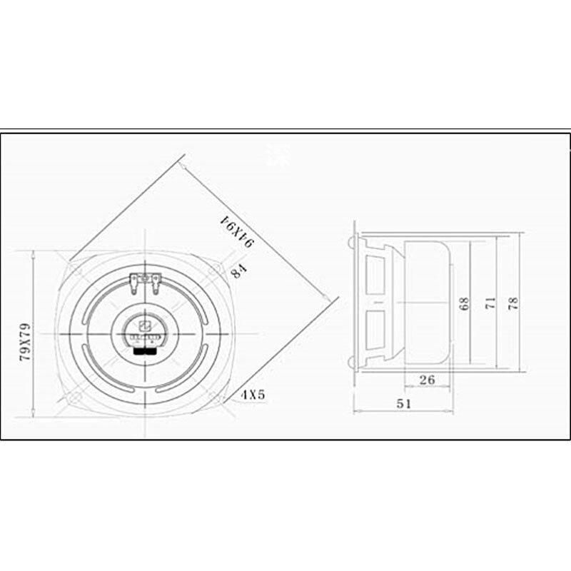 United States Design 3inch 8ohm Audio Speaker Full Range Hifi