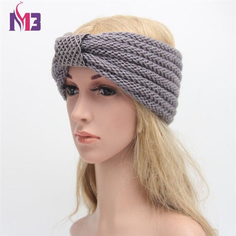 Fashion Cross Hairband Turban Acrylic Knitted Headband bands Hair Accessories For Women Headwear in Women 39 s Hair Accessories from Apparel Accessories