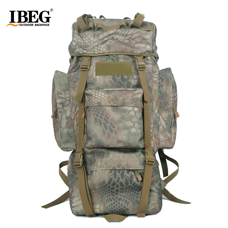 new camo 65l molle tactical assault outdoor military rucksacks backpack camping bag large free shipping