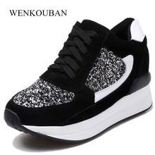 76ecfba730 Silver Shoes Women Platform Sneakers Creepers Summer High Platform Sneakers  Women Trainers Ladies Casual Shoes Zapatos