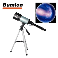 Astronomical Refractor Telescope F30070 15 150x 70mm Zoom High Powered Monocular Digital Eyepiece With Tripods HT38