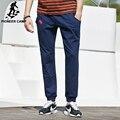 Pioneer camp 2017 nuevos mens joggers moda marca de ropa con capucha pantalones pantalones casuales pantalones de chándal de los hombres de color azul oscuro mediados de cintura 620401
