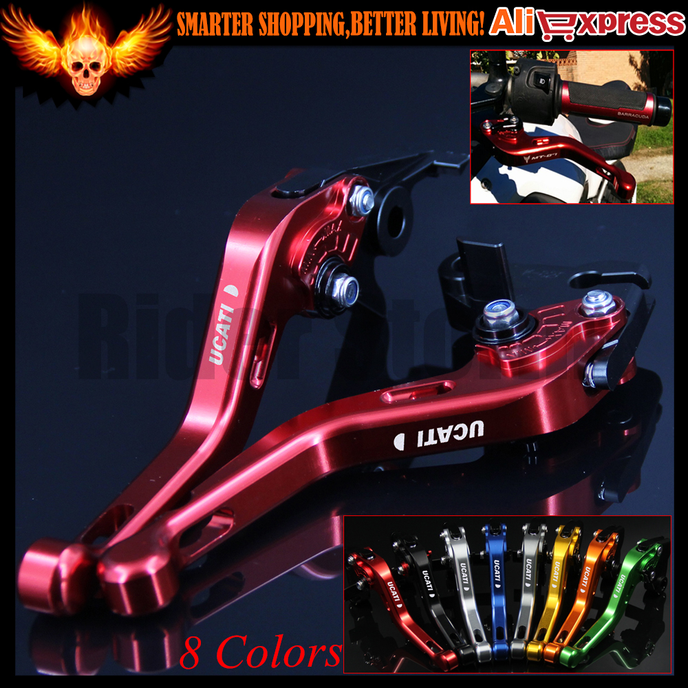 ФОТО 8 Colors CNC Aluminum Red Motorcycle Short Brake Clutch Levers for Ducati Scrambler 2015 2016