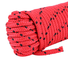 Profession 20M Outdoor Rock Climbing Rope 8mm Diameter High Strength Survival Paracord Safety Rope Cord String Hiking Accessory
