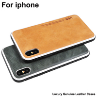 Luxury Genuine Leather Cases For iPhone 7 8 plus X XS XR XS MAX Case coque For iPhone 7plus 8plus Cover iPhoneXS MAX case shell