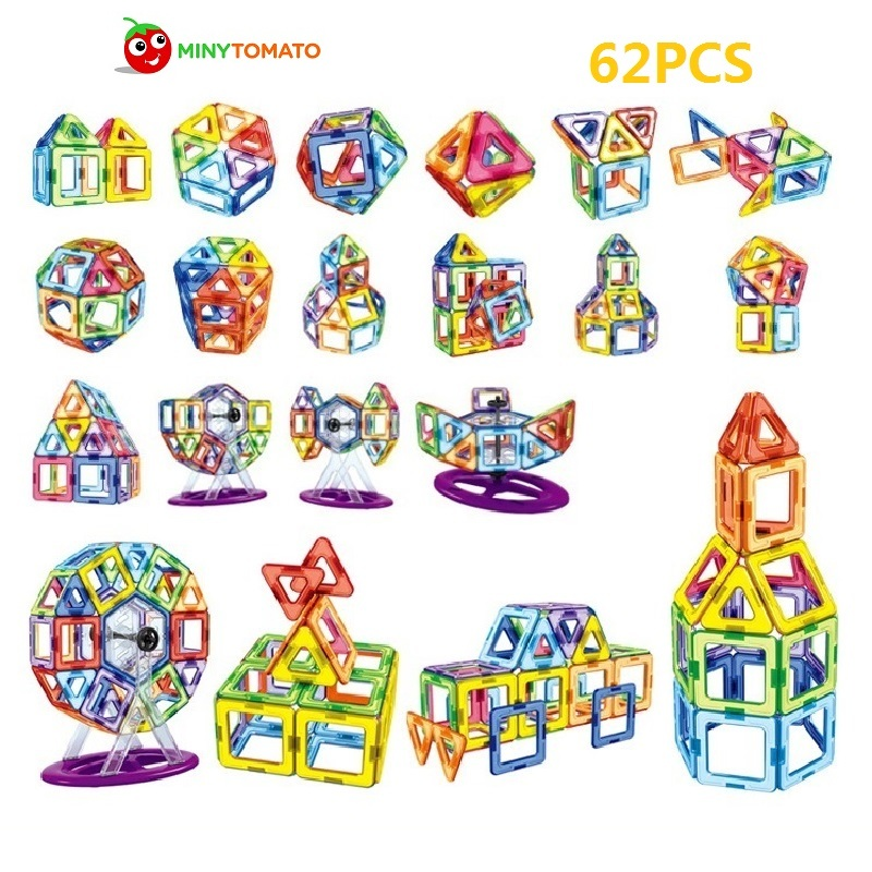 Free Ship 62pcs/lot 3D Enginneer Cars Magnetic Assembling Building Blocks DIY Learning & Education Toys Bricks Toys for Children 8 in 1 military ship building blocks toys for boys