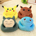 4 styles Snorlax Squirtle Eevee Pikachu pillow office the nap pillow boy girl game gifts christmas presents Free Shipping
