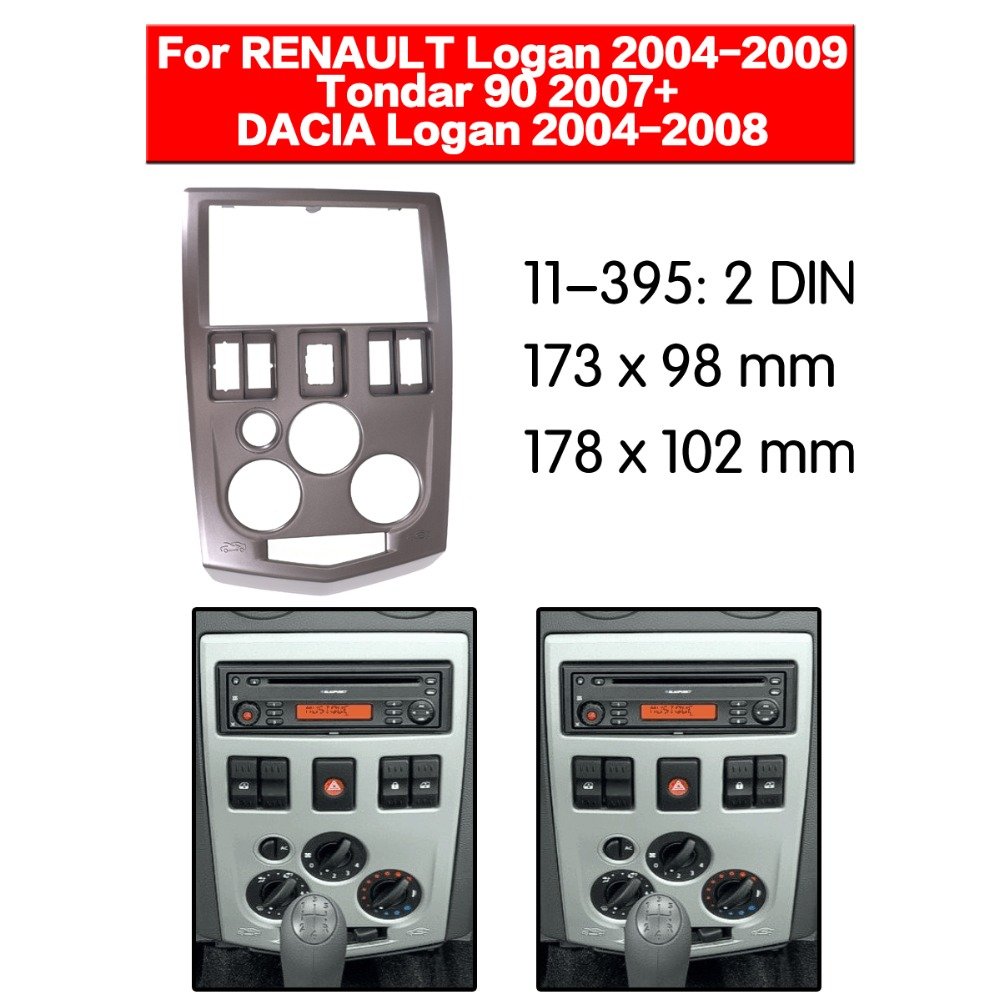 double DIN fascia facia panel plate frame for RENAULT Logan NISSAN Aprio Stereo Fascia Dash CD Trim Installation Kit 11 395|Interior Door Panels & Parts|Automobiles & Motorcycles - title=