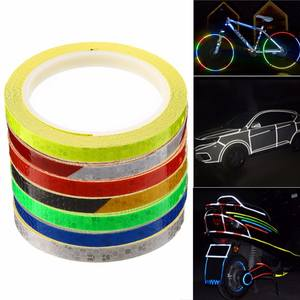 8 m * 1 cm Colorful Reflective Stickers for Motorbike Bike