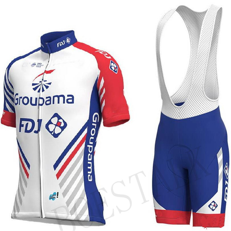 Men's 2018 Pro team FDJ cycling jerseys Bicycle maillot breathable Ropa Ciclismo MTB Short sleeve quick dry bike clothing 3D GEL new team teleyi cycling jerseys 2017 short sleeves summer breathable cycling clothing pro mtb bike jerseys ropa ciclismo