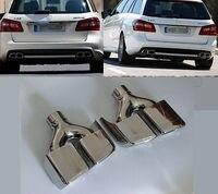 Сзади выхлопные трубы глушитель трубы, пригодный для Mercedes Benz W212 e класса E200 E260 E300 E63 AMG