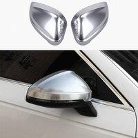 Acessórios do carro 2x chrome porta espelho retrovisor decorador copo capa guarnição para audi a4 b9 2017-2018 & a5 2018