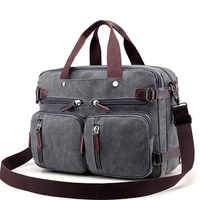 Men Canvas Bag Large Briefcase Travel Suitcase Messenger Shoulder Tote Handbag Big Casual Business Male Laptop Bag XA162ZC