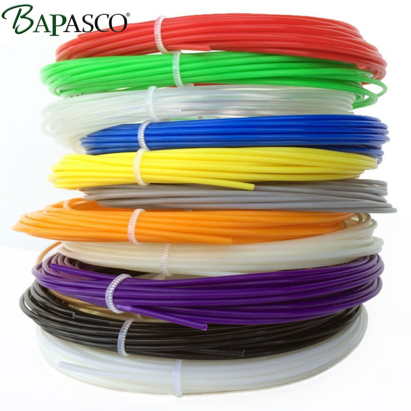 цены BAPASCO 3D Pen Filament thread 100M Or 200M 1.75mm ABS 20 Different Colors for 3D printing pens wire rod 3D linear