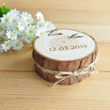 Rustic Wooden Wedding Ring Box,Personalized Ring Box,Round Ring Bearer Box,Ring Holder or Wedding Party round wooden wedding ring jewelry trinket box wood storage container case holder