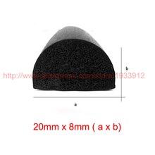 купить 3m x 20mm x 7mm seal window door sticker adhesive cabinet crashproof rubber foam seal strip sound insulation по цене 989.34 рублей