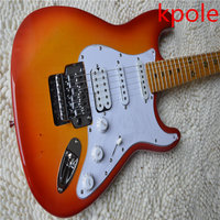 Kpole High Quality Floyd Rose St Electric Guitar Five Pointed Star Is Embedded In The Maple