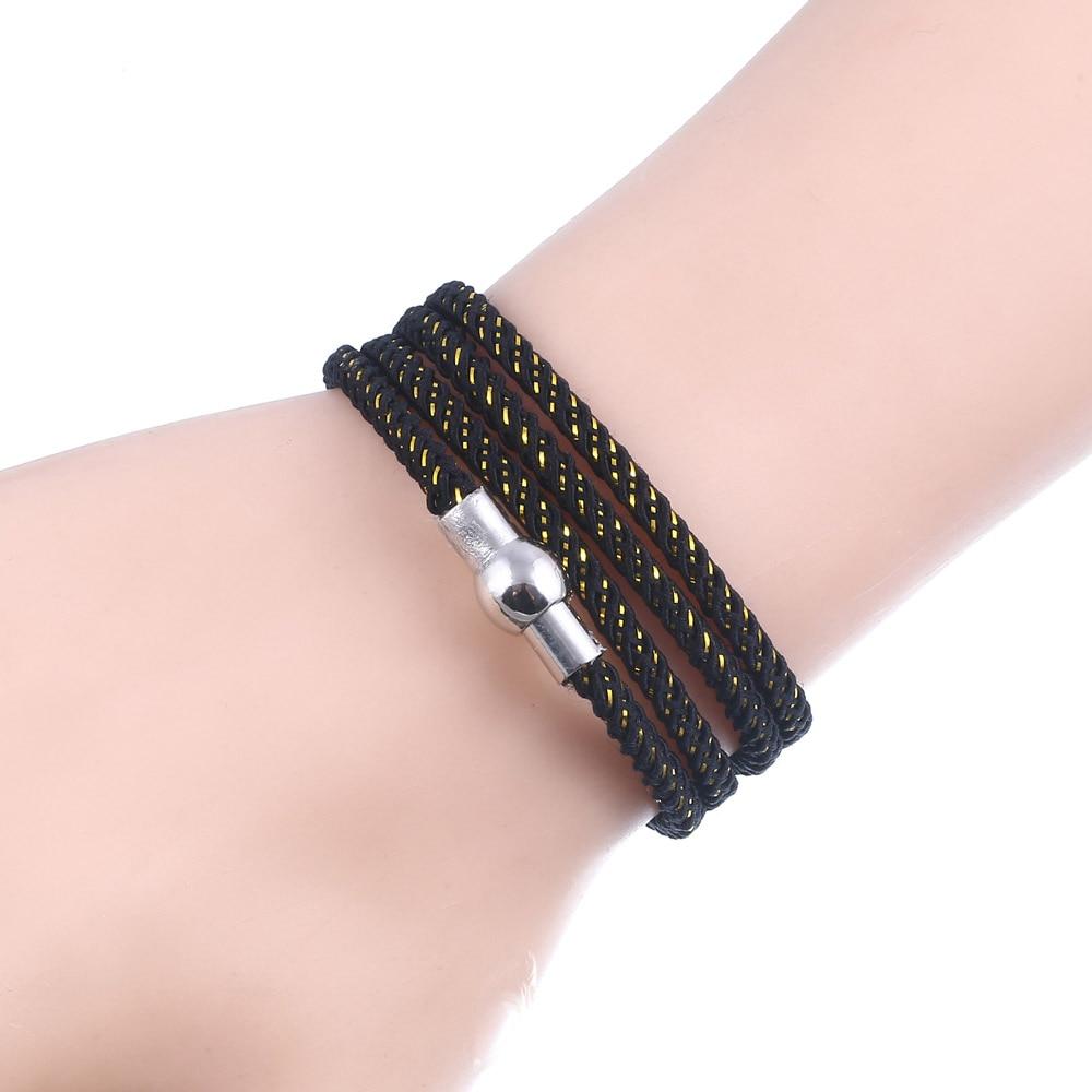 2018 Brand Leather Bracelet Men Bracelets For Homme Women Pulseira Masculina Magnet Man Jewelry Charm Bileklik