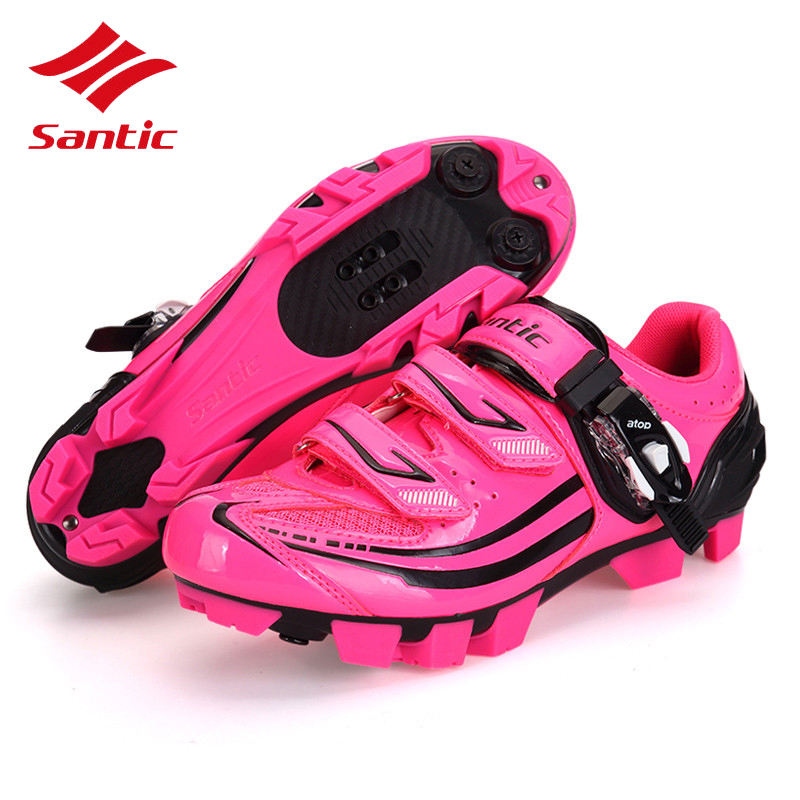 Santic Women Cycling Shoes 2017 Mountain Self-Locking Bicycle Shoes MTB Bike Shoes Athletic Sapatillas Ciclismo Chaussure Velo santic men cycling shoes tpu athletic self locking sports triathlon road bicycle bike shoe sapatillas ciclismo chaussure velo