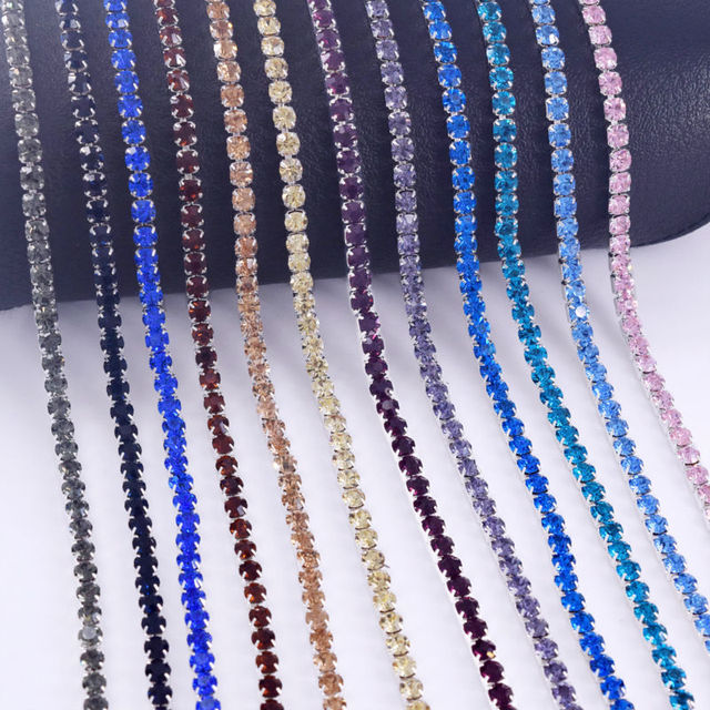 DIY 10yards SS16 3.8mm Clothing Glass Rhinestone Close Cup chain Dense Trim  Silver Gold plated Handmade Garment Shoes Accessory -in Rhinestones from  Home ... c8a254fa5ae5