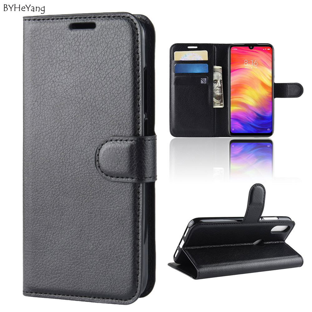Case For Xiaomi Redmi Note 7 Pro Flip Leather Wallet Case Card Holder Phone Coque Black For Xiaomi Redmi Note 7 Book Cover note7 redmi note 7 pro cover