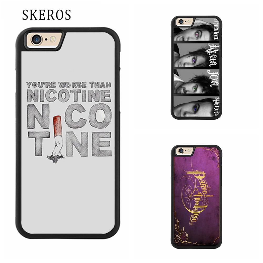 SKEROS Panic At The Disco Full Protective cover phone case for iphone X 4 4s 5 5s 6 6s 7 8 6 plus 6s plus 7 plus 8 plus #qq264