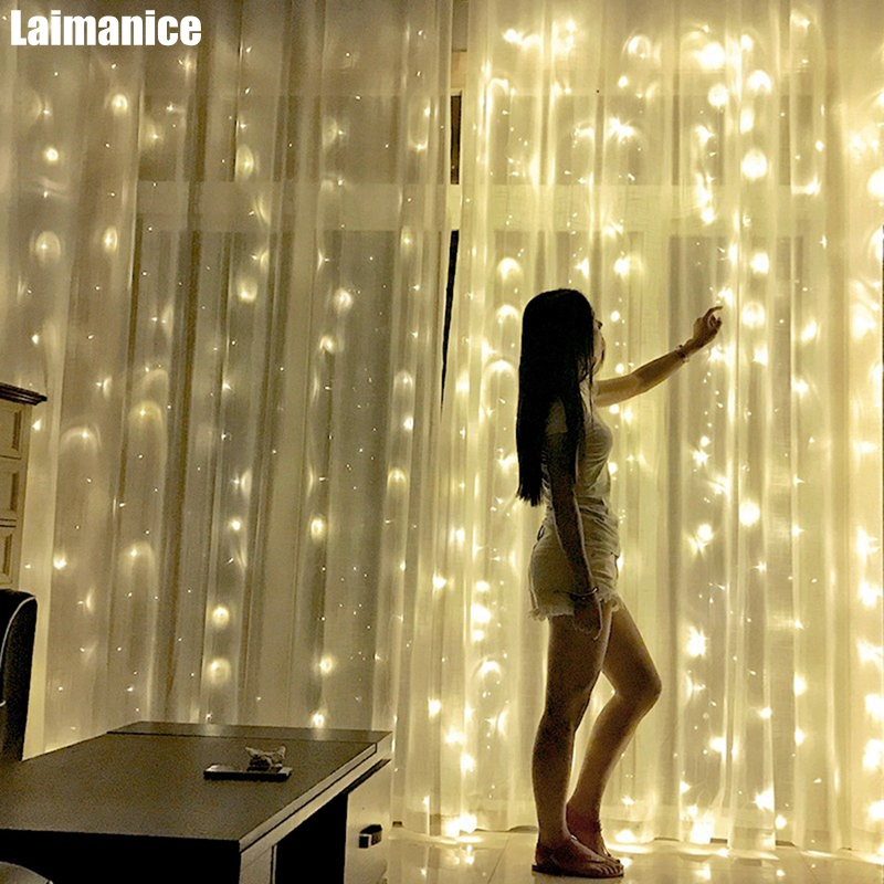 3 x1M/3 x2M/3x3M LED Icicle String Lights Christmas xmas Fairy Lights Outdoor Home For Wedding/Party/Curtain/Garden Decoration