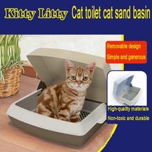 Kitten Toilet Large Cat Litter Box Pet Toilets Pets Tray Lettiera Gatto Chiusa Cleaning Pet Potty Palas Animal Supply 90Z1974