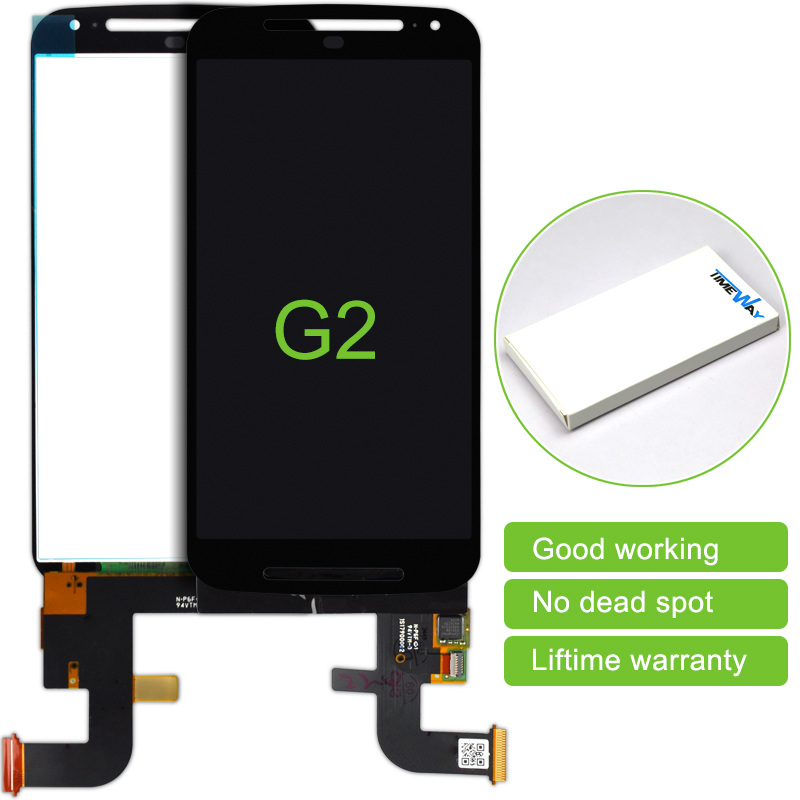 2 pcs High quality For Motorola MOTO G2 XT1063 XT1068 XT1069 LCD Display and Touch Screen Digitizer  no Frame Free Shipping new lcd display touch screen digitizer with frame for motorola moto g2 g 2nd xt1063 1064 1068 1069 free shipping